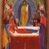 Icoana de hram a Bisericii Adormirea Maicii Domnului (Acvila)