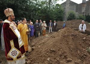 Sfinţirea pietrei de temelie a viitoarei Săli de reuniune AFTENIE din Bucureşti