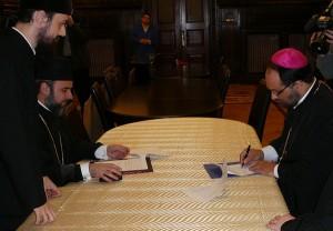 PS Mihai Fratila, Episcop Vicar al Bucurestilor si PS Ciprian, Episcop Vicar Patriarhal