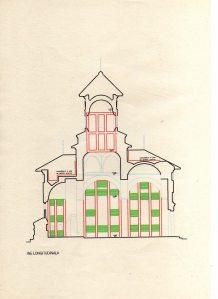 Planul Bisericii - sectiune longitudinala a consolidarilor