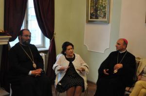 Virginia Zeani impreuna cu PS Mihai si PS Virgil