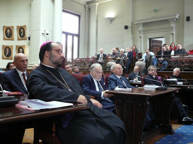 Participanții la Jubileul Astrei la Academia Română de la București