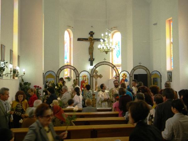 Procesiune la Sfanta Rita, ocrotitoarea parohiei