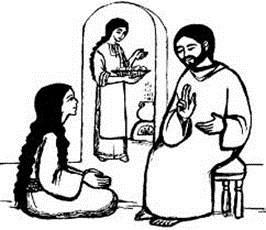 Primirea lui Isus de către Marta și Maria