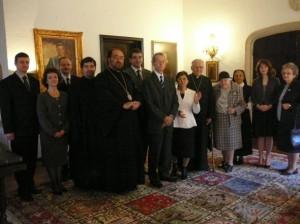 Delegația Vicariatului de București la Regele Mihai I cu ocazia aniversării sale de 90 de ani