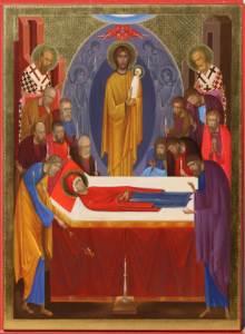 Icoana de hram a Bisericii Adormirii Maicii Domnului (Acvila)