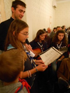 Deschiderea anului universitar, scolar si cercetasesc pentru tinerii greco-catolici din Bucuresti