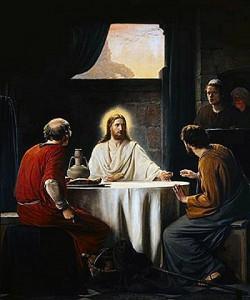 Supper at Emmaus, by Carl Heinrich Bloch (1834-1890) (1)